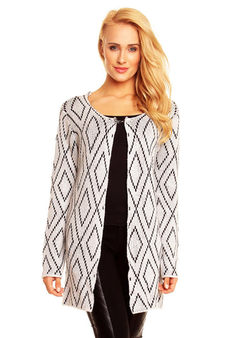 Wendy Strik Cardigan - Creme/Sort