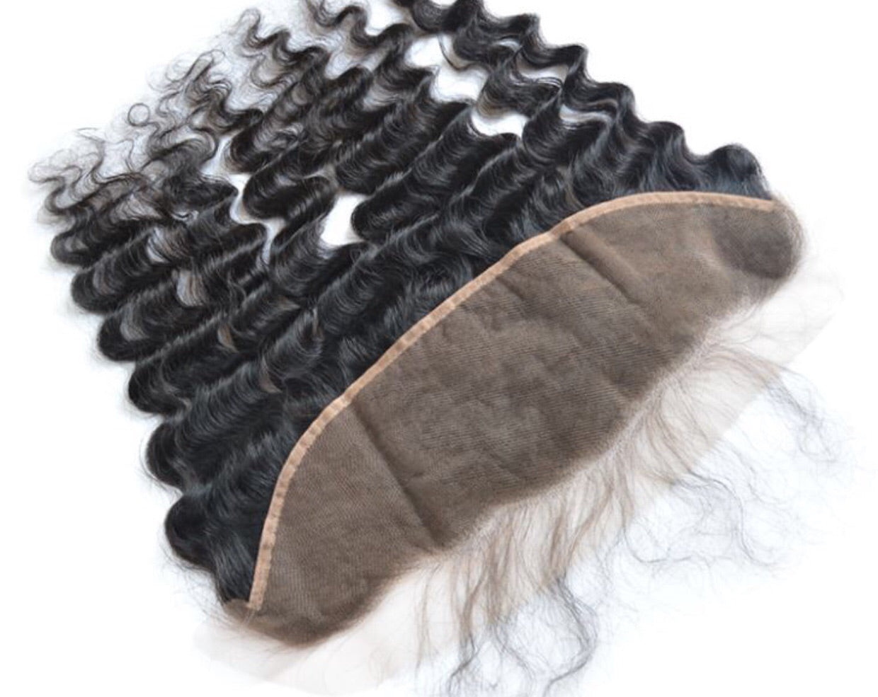 100%  Human Hair 13x4 Lace Brazilian Deep Wave Frontal