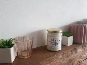 You Are Enough - Scented soy wax quote jar candle with wood wick