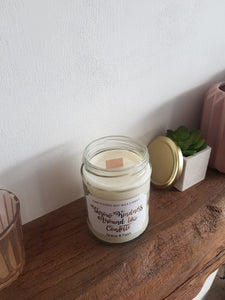 Throw kindness around like confetti - Scented soy wax jar candle with wooden wick