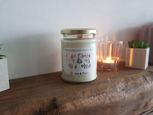 Load image into Gallery viewer, Sassy, Classy & A Little Bit Bad-Assy - Scented soy wax candle with wooden wick