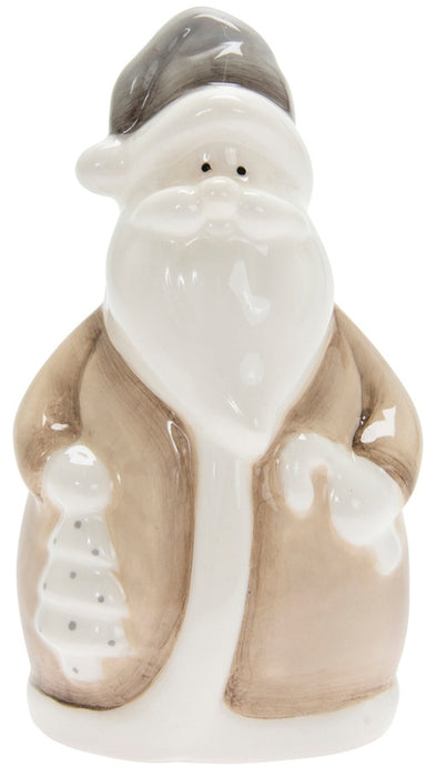 Gorgeous neutral Santa ornament, an elegant addition to your home this Christmas