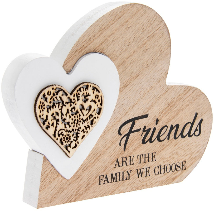 Friends Are Family We Choose, Natural Toned Side Heart Block