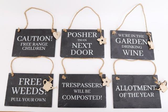 Potting shed signs, slate plaque great gift, garden, homewares
