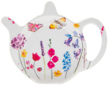 Load image into Gallery viewer, Set of 3 kitchen accessories, spring garden design, tea tidy, spoon rest and tea tray