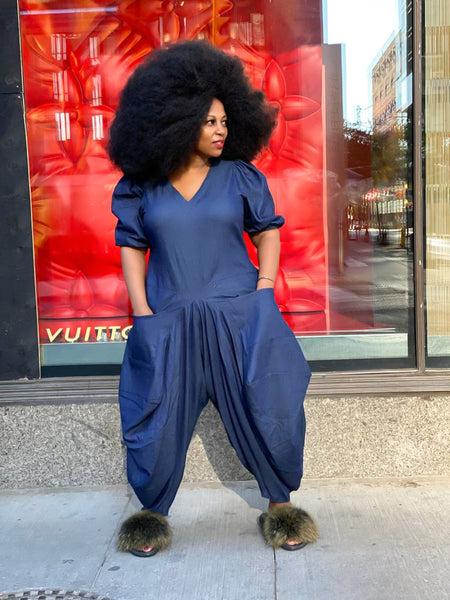 DENIM HAREM JUMPSUIT