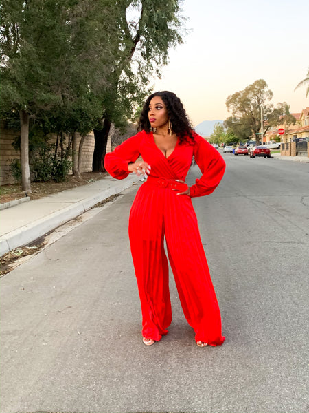 DEEJA PLEATED JUMPSUIT
