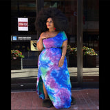 TIE DYE DRESS (PLUS)
