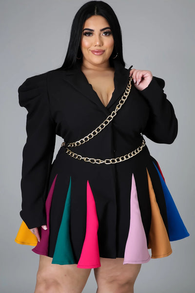 RAINBOW CHAIN DRESS