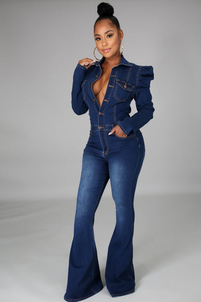 CASSIE DENIM JUMPSUIT