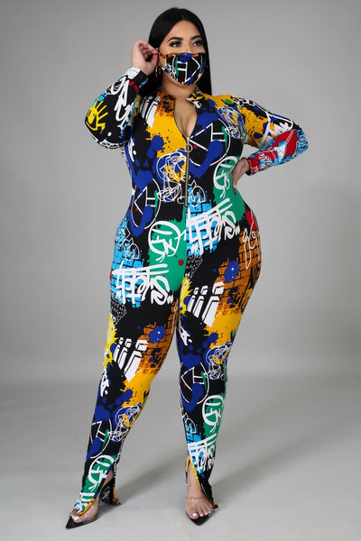 WALL OF ART JUMPSUIT (PLUS)