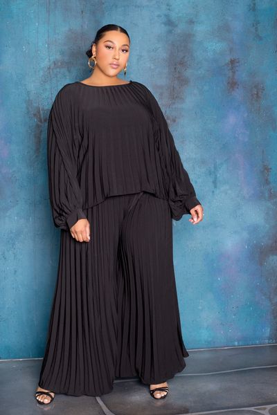 LISHA PLEATED SET