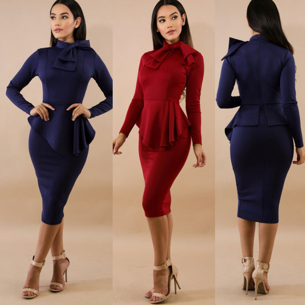 MARTHA PEPLUM DRESS
