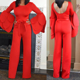 Petal Sleeves Jumpsuit