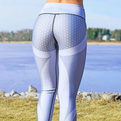 Honeycomb Printed Sport Leggings