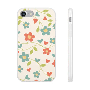 Flexi iPhone & Galaxy Phone Cases: Springtime Cat Phone Case Printify iPhone 7