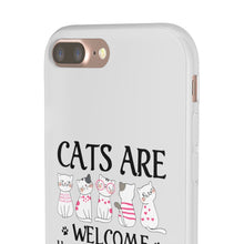 Load image into Gallery viewer, Flexi iPhone & Galaxy Phone Cases: Cats Are Welcome Humans Are Tolerated Phone Case Printify