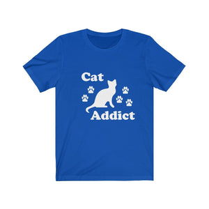 T-Shirt: Cat Addict T-Shirt Printify True Royal XS