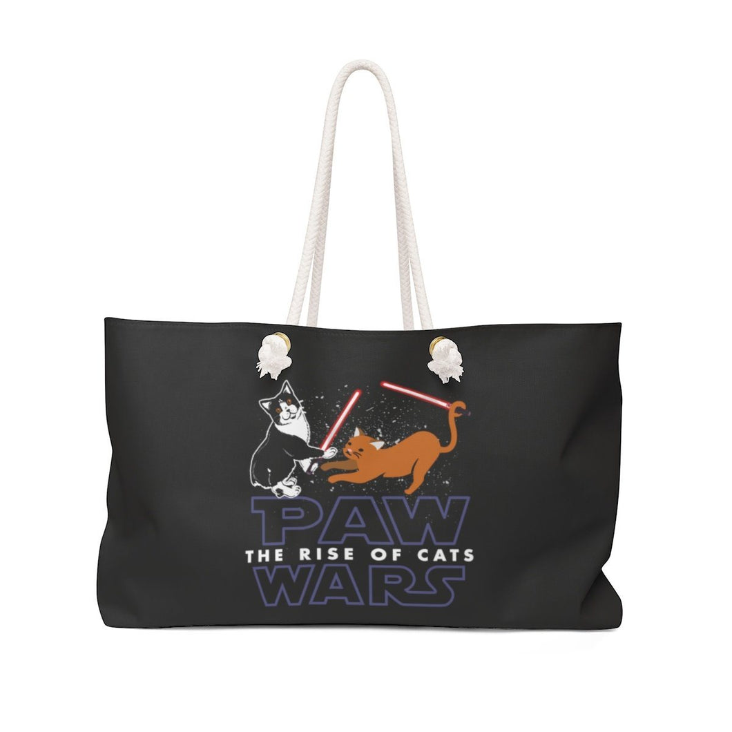 Weekender Bag: Paw Wars The Rise Of Cats Bags Printify 24x13