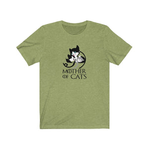 T-Shirt: Mother Of Cats T-Shirt Printify Heather Green XS
