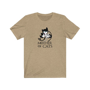 T-Shirt: Mother Of Cats T-Shirt Printify Heather Tan XS
