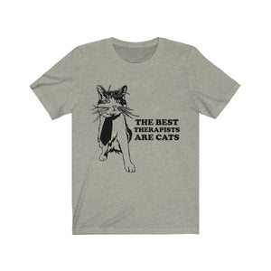 T-Shirt: The Best Therapists Are Cats T-Shirt Printify Heather Stone XS