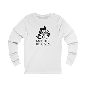 Long Sleeve T-Shirt: Mother Of Cats Long-sleeve Printify White S