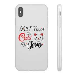 Flexi iPhone & Galaxy Phone Cases: All I Need Are Cats & Jesus Phone Case Printify iPhone XS MAX