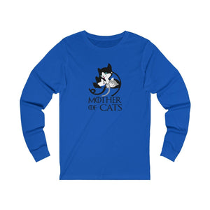 Long Sleeve T-Shirt: Mother Of Cats Long-sleeve Printify True Royal S