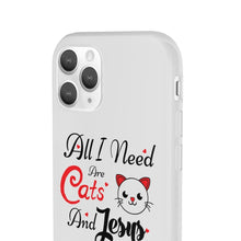 Load image into Gallery viewer, Flexi iPhone & Galaxy Phone Cases: All I Need Are Cats & Jesus Phone Case Printify