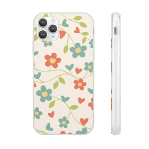 Flexi iPhone & Galaxy Phone Cases: Springtime Cat Phone Case Printify iPhone 11 Pro Max