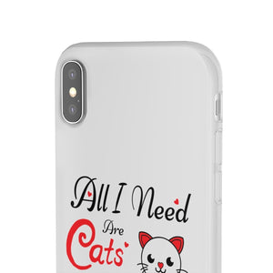 Flexi iPhone & Galaxy Phone Cases: All I Need Are Cats & Jesus Phone Case Printify