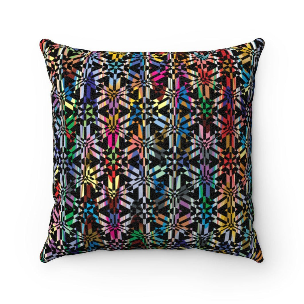 Colorful Abstract Pattern Faux Suede Square Pillow Home Decor Printify 14