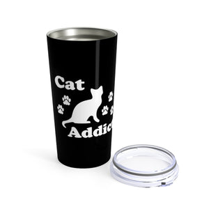 Vacuum Insulated 20oz Tumbler: Cat Addict Mug Printify 20oz