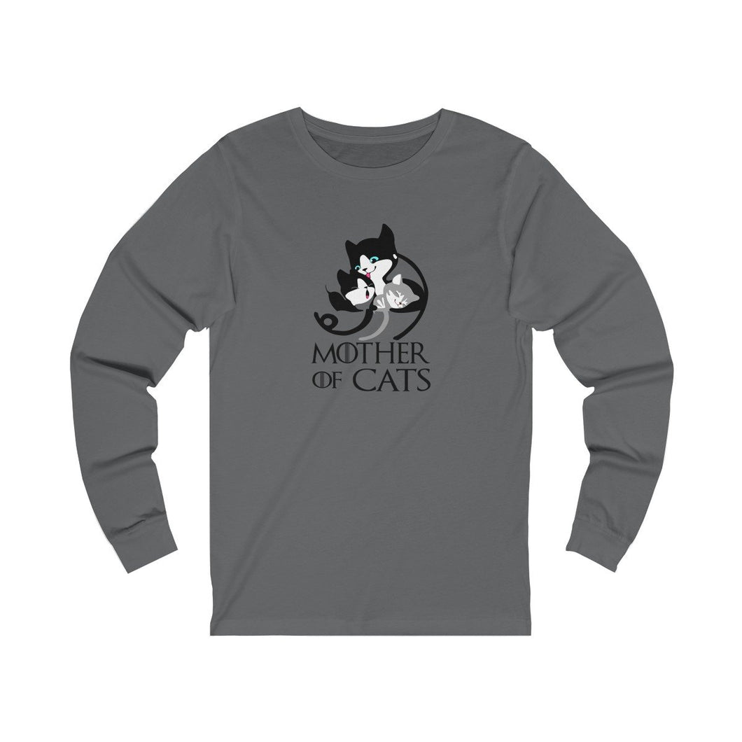 Long Sleeve T-Shirt: Mother Of Cats Long-sleeve Printify Asphalt L