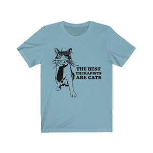 T-Shirt: The Best Therapists Are Cats T-Shirt Printify Baby Blue XS