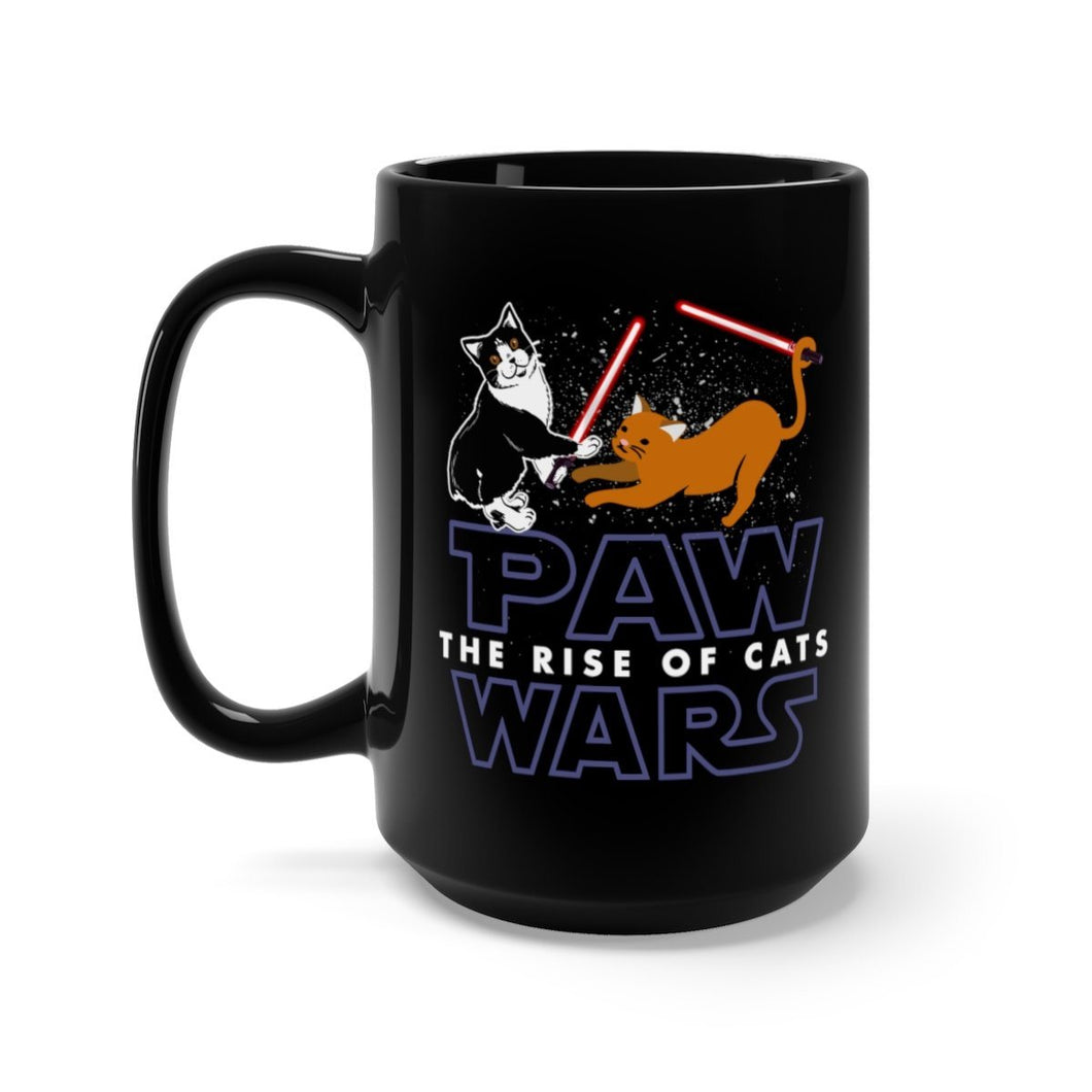 Black Coffee Mug 15oz: Paw Wars Rise Of The Cats Mug Printify 15oz