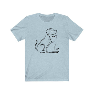 T-Shirt: Cat and Dog T-Shirt Printify Heather Ice Blue L