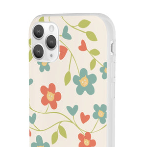 Flexi iPhone & Galaxy Phone Cases: Springtime Cat Phone Case Printify