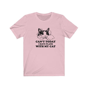 T-Shirt: Can't Today I Have Plans With My Cat T-Shirt Printify Pink XS