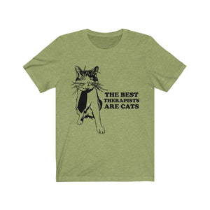 T-Shirt: The Best Therapists Are Cats T-Shirt Printify Heather Green XS