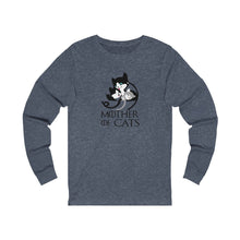 Load image into Gallery viewer, Long Sleeve T-Shirt: Mother Of Cats Long-sleeve Printify Heather Navy S