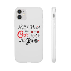 Flexi iPhone & Galaxy Phone Cases: All I Need Are Cats & Jesus Phone Case Printify iPhone 11