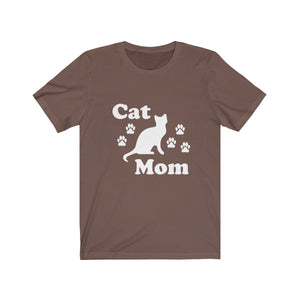 T-Shirt: Cat Mom T-Shirt Printify Brown XS