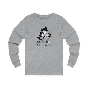 Long Sleeve T-Shirt: Mother Of Cats Long-sleeve Printify Athletic Heather S