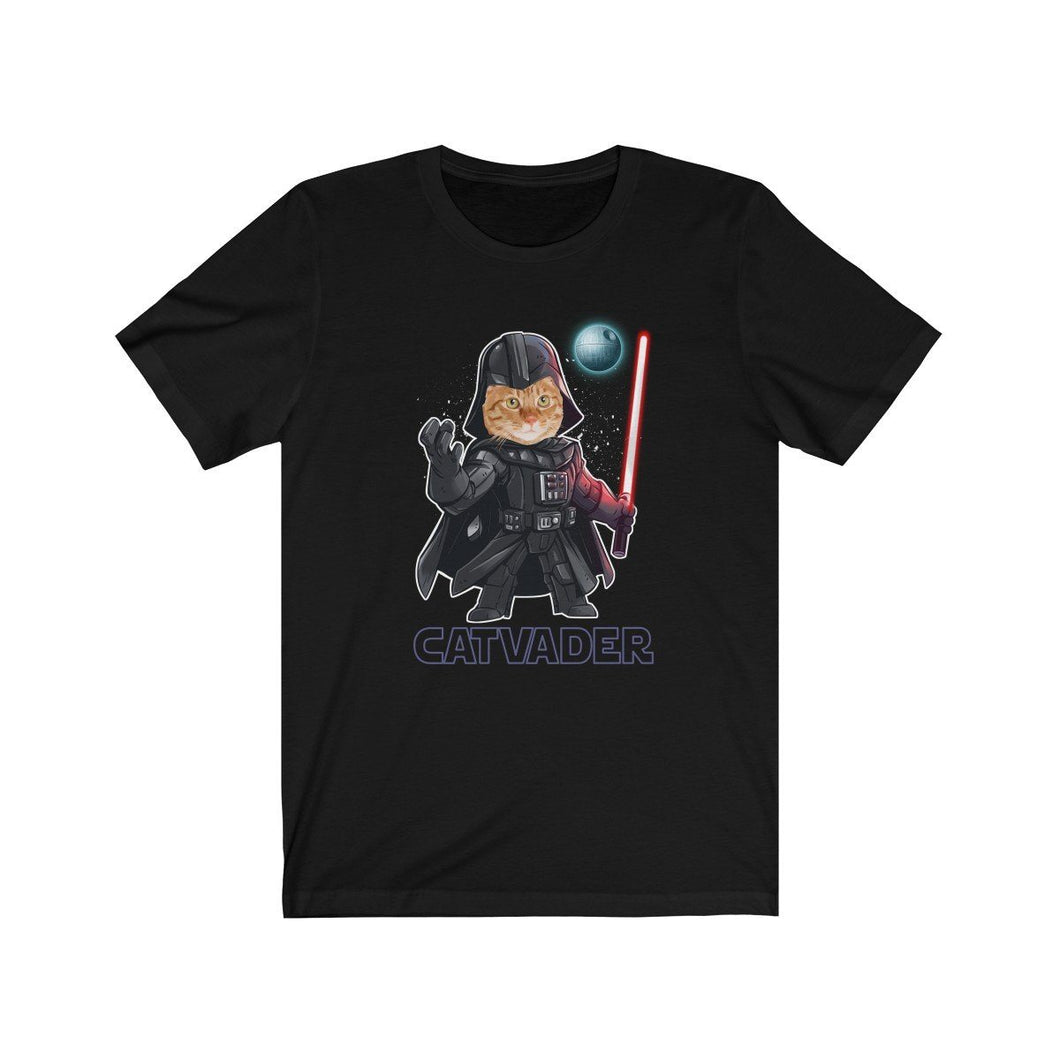 T-Shirt: Cat Vader T-Shirt Printify Black L
