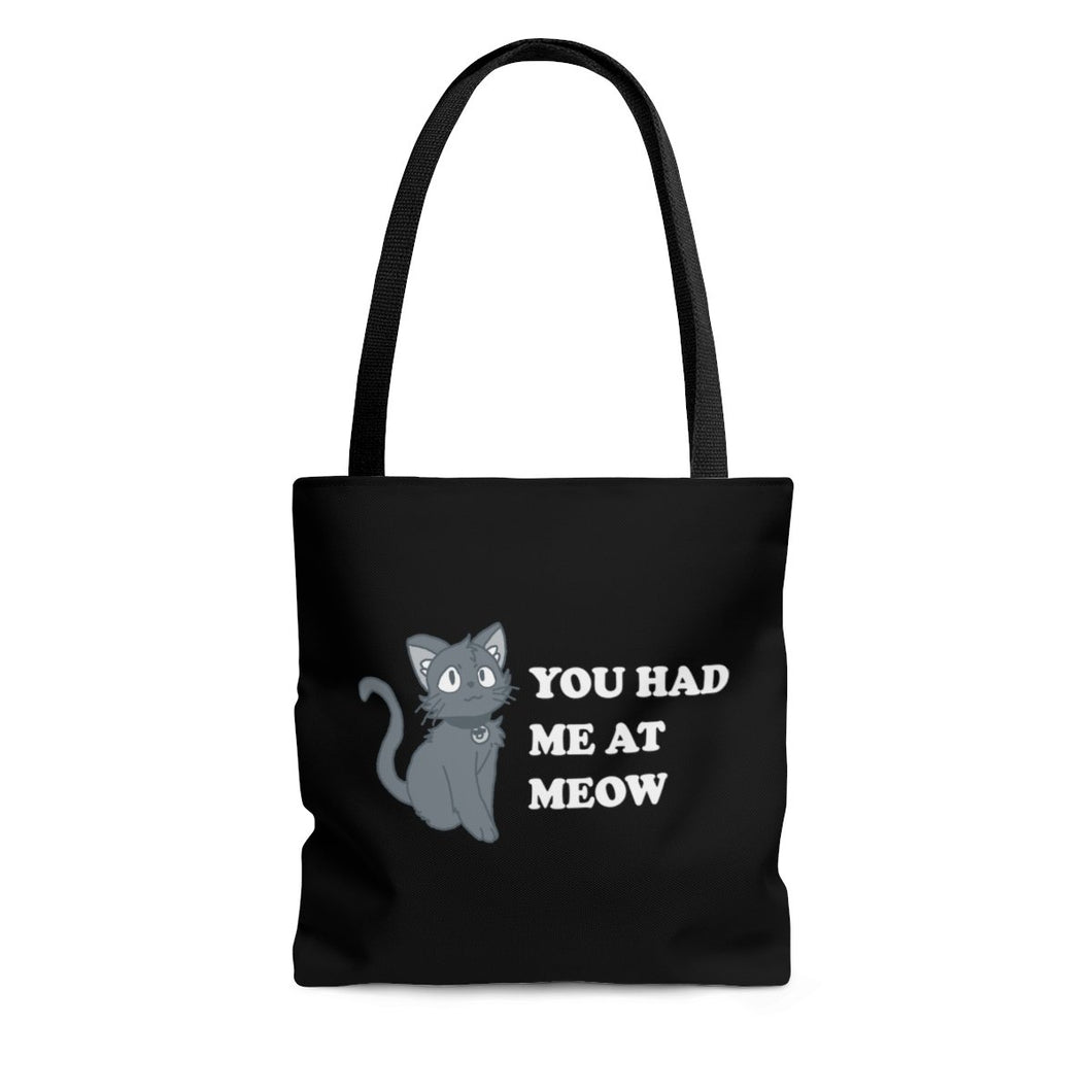 Reusable Tote Bag: You had Me At Meow Bags Printify Small