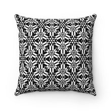 Load image into Gallery viewer, Black and White Abstract Pattern Faux Suede Square Pillow Home Decor Printify