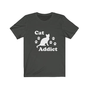 T-Shirt: Cat Addict T-Shirt Printify Dark Grey XS