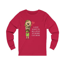 Load image into Gallery viewer, Long Sleeve T-Shirt: I Just Want To Be A Stay At Home Cat Mom Long-sleeve Printify Red S